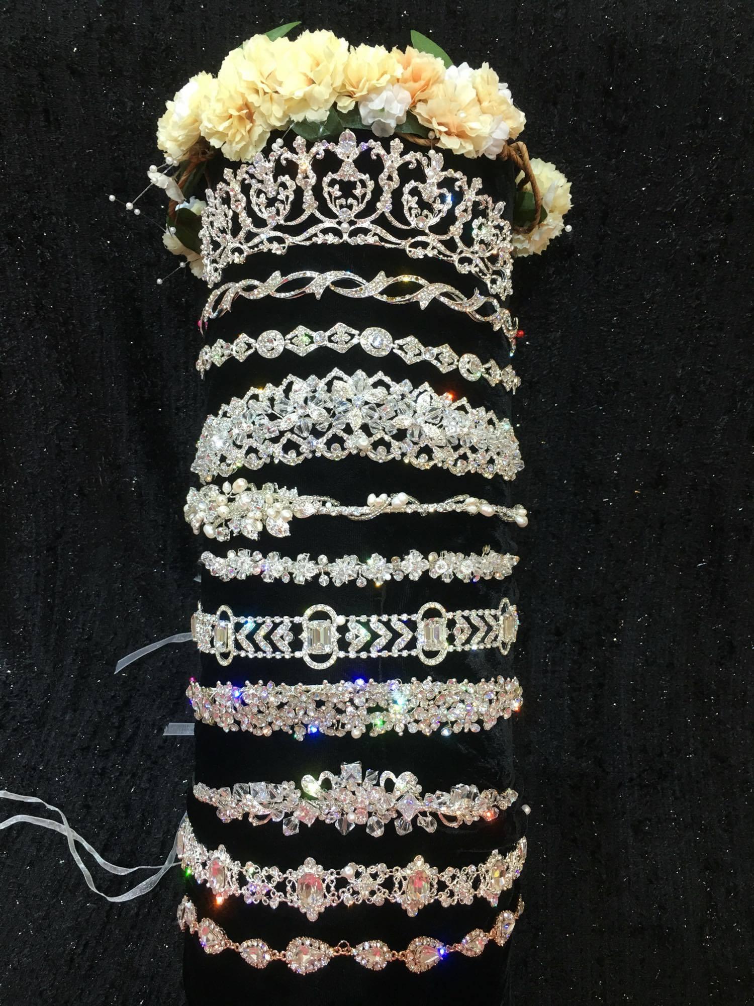 Elegant Tiaras & Headbands available @ TDWP!